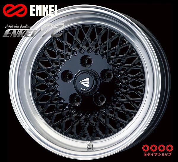 ENKEI(エンケイ) Neo Classic ENKEI92 15×7.0J PCD114/5 +38 ボア径:72.6φ カラー:Black with Machined Lip 【ネオ クラッシック エンケイ92】 注)ホイール1枚です