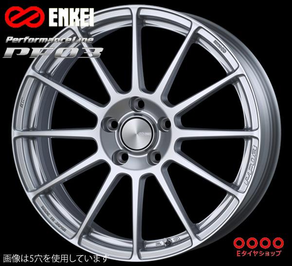 ENKEI エンケイ パフォーマンスライン PF03 15インチ 5.0J PCD100/4 +45 カラー:スパークルシルバー PerformanceLine PF03 ホイール1枚