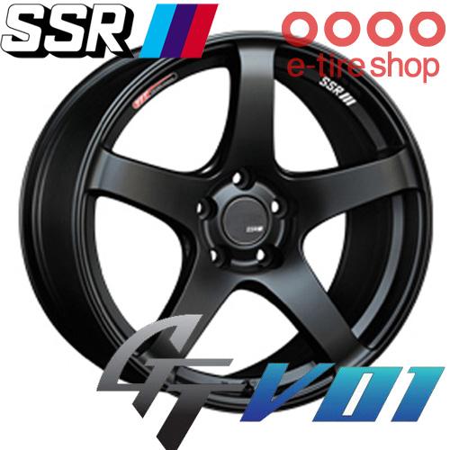 SSR(エスエスアール) GTV01 18×10.5J PCD114/5 +15 ハブ径:73φ カラー:フラットブラック 【ジーティーブイゼロワン】 注)ホイール1枚です