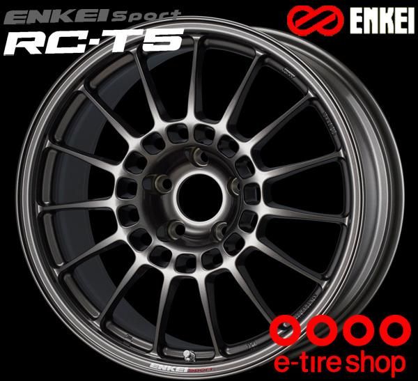ENKEI エンケイ スポーツ RC-T5 18インチ 8.0J PCD100/5 +48 ボア径:75φ カラー:ダークシルバー ENKEI Sport RC-T5ホイール1枚