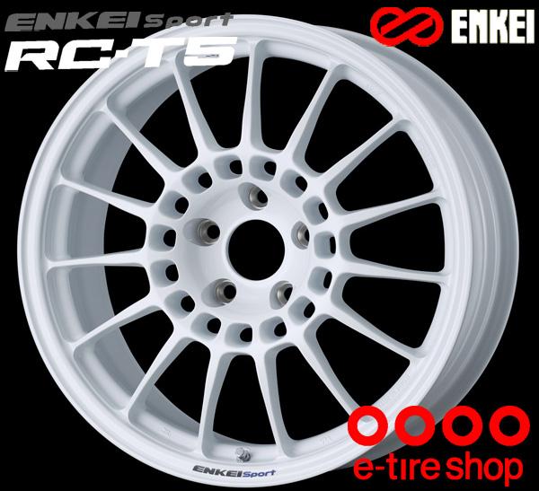 ENKEI エンケイ スポーツ RC-T5 18インチ 9.0J PCD114/5 +40 ボア径:75φ カラー:ホワイト ENKEI Sport RC-T5ホイール1枚