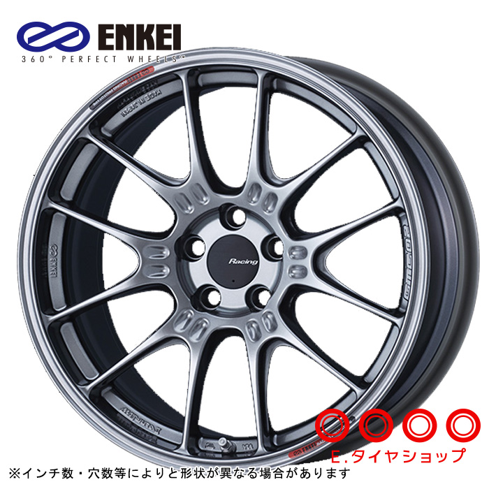 ENKEI GTC02 17×9.0 5/100 +43  φ75 カラー:ハイパーシルバー(HS)エンケイ ホイール1枚価格