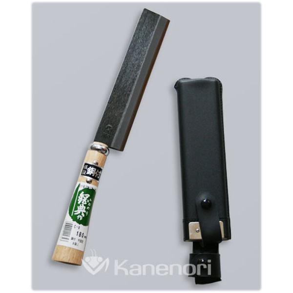 [五十嵐刃物]180mm 鋼付 両刃竹割鉈 木鞘 C-9