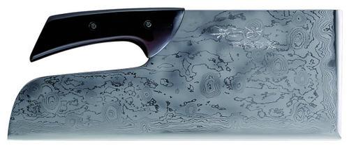 【送料無料】【豊稔企販】 鍛冶宗匠光山作 積層別打麺切包丁 塗柄 330mm A-1160