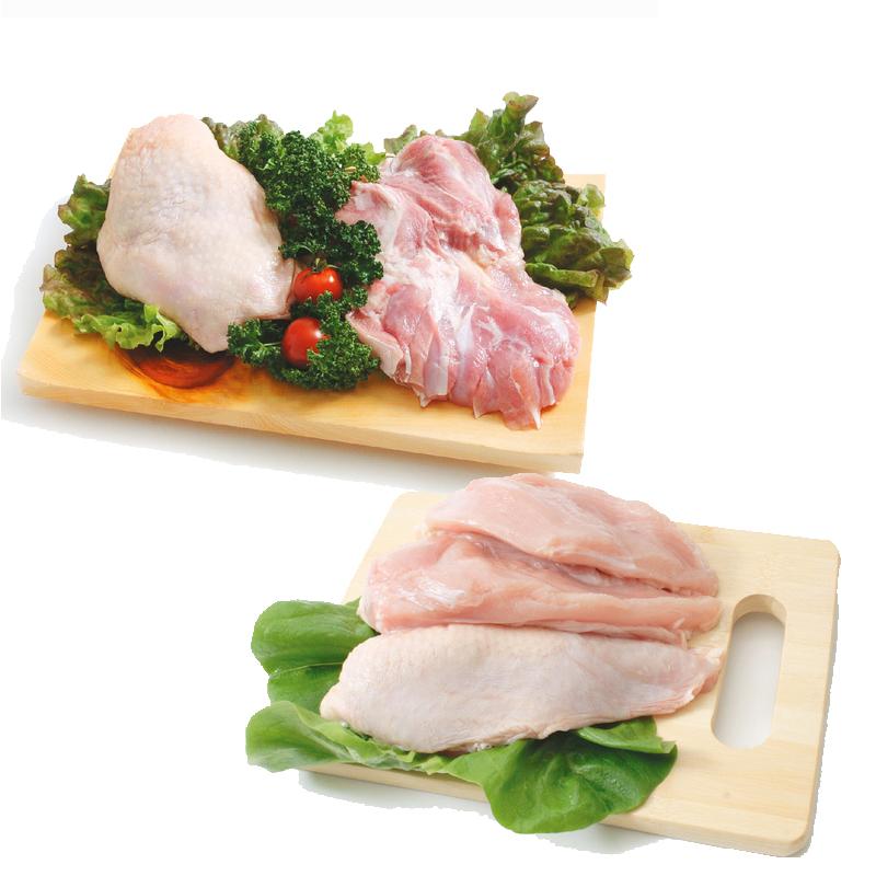 【送料無料】菜彩鶏 鶏もも肉 むね肉セット(もも肉2kg+むね肉2kg)合計4kgセット (岩手県産) (fn67701)全飼育期間において抗生物質を使用せず健康な鶏を育てています。