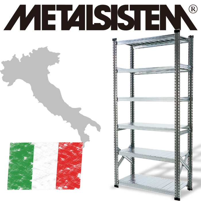 メタルラック 幅90 6段 スチールラック 棚板1枚当たり耐荷重150kg METALSISTEM 3段スチールシェルフW900 メタルシステム イタリア製 業務用 倉庫 オシャレ ガレージ プロ ショップ