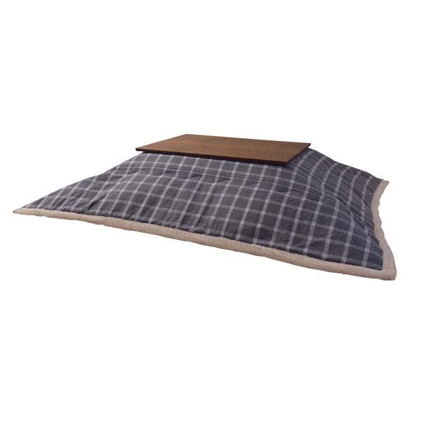 薄掛けコタツ布団 長方形 ポリエステル 幅190×奥行230cm ウィンドウ・ペンチェック かわいい おしゃれ カジュアル シンプル