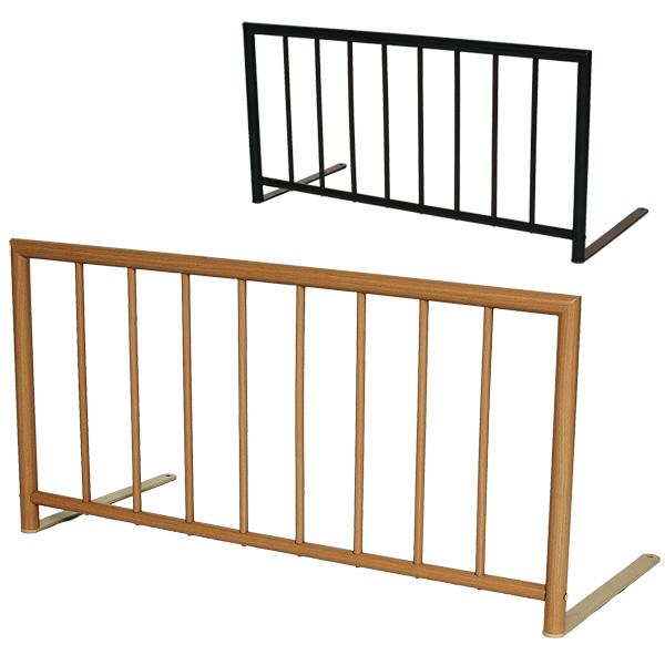 木目調塗装のベッドガード 布団転落防止 ベッドフェンス マットレス、布団にはさむベッドガード 送料無料