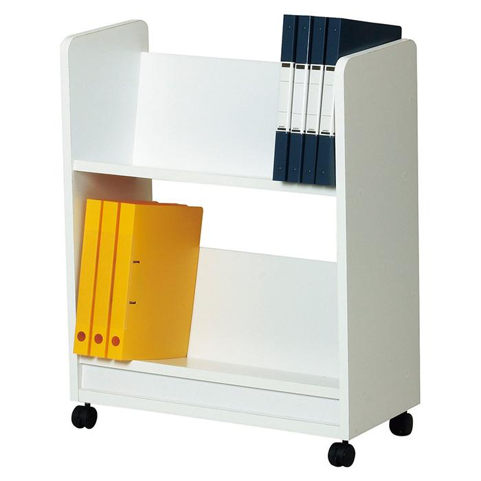 本屋さんやレンタルDVDショップみたいな斜め棚の本棚 ファイルワゴン 送料無料 美しい本棚(おしゃれ 本棚 ブックシェルフ 書棚 ブックラック 収納棚 オシャレ ラック 新生活 収納ラック)