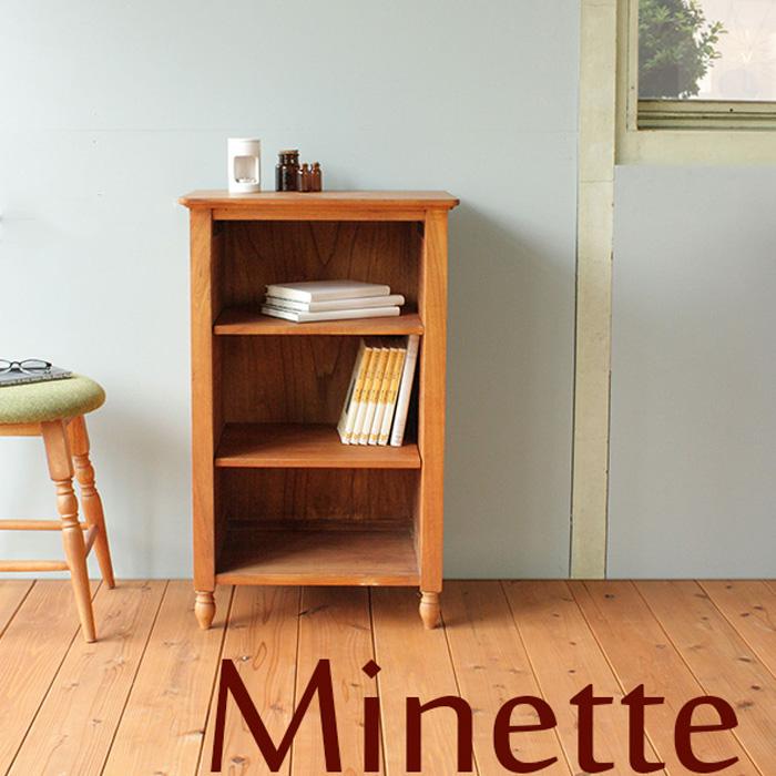 【送料無料】 気品ただようナチュラル本棚 幅50cm アンティーク 北欧 美しい本棚