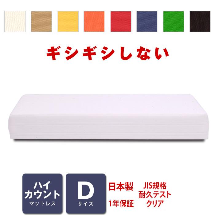 マットレス ハイカウント (高密度スプリング) ダブルサイズ ベッド用 [PROFONDシリーズ]