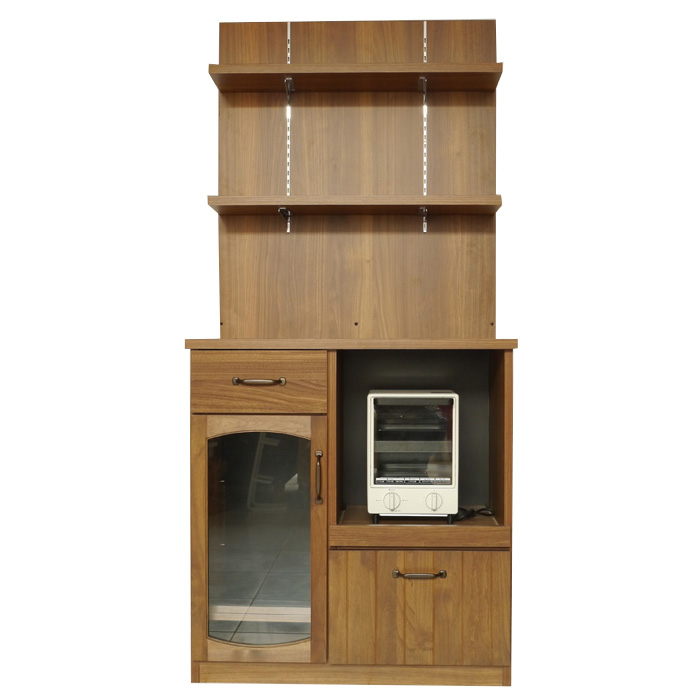 食器棚 80 完成品 キッチンラック 80バックパネルMONT モントシリーズ 幅80cmラック風カウンターキャビネット フルスライドレール 天然木 北欧 収納 シンプル キッチンラック キッチンラック(キッチンボード キッチン ダイニング)