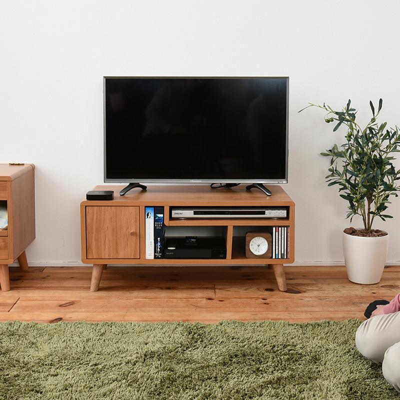 テレビ台 ローボード おしゃれ 北欧風 リビングボード ピコシリーズ(Pico) 幅80cmタイプ 木目調ナチュラル【HLS_DU】(tvボード オーディオボード tvラック テレビラック avラック テレビ ボード 棚)