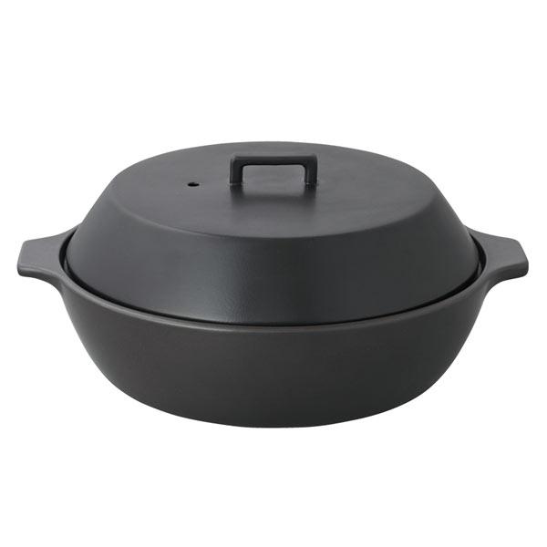 カコミ IH土鍋 2.5L ブラック 25193 KAKOMI