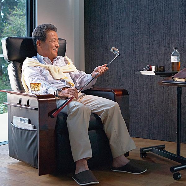 デラックスパーソナルチェア 無段階リクライニング 360度回転 ハイバック 送料無料(背もたれ お洒落 椅子 いす イス チェアー オシャレ おしゃれ 家具 インテリア)