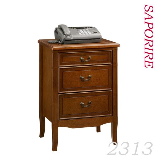 幅50cm高さ72.5cmタイプのチェスト 上質なアンティークな雰囲気のサポリーレ シリーズ サイドテーブル FAX・電話台 ミニチェスト 送料無料