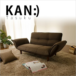 「KAN Tasuku」 コンパクトカウチソファ カウチソファA01 2人掛け ソファ 送料無料(ソファ ソファー 椅子 イス いす おしゃれ インテリア 家具 二人掛け カウチ カウチソファー ソファチェア モダン ラブソファー )