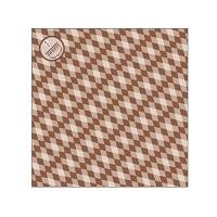 クレープ包装紙 ラミ加工Lブラウン 1ケース(3,000入)