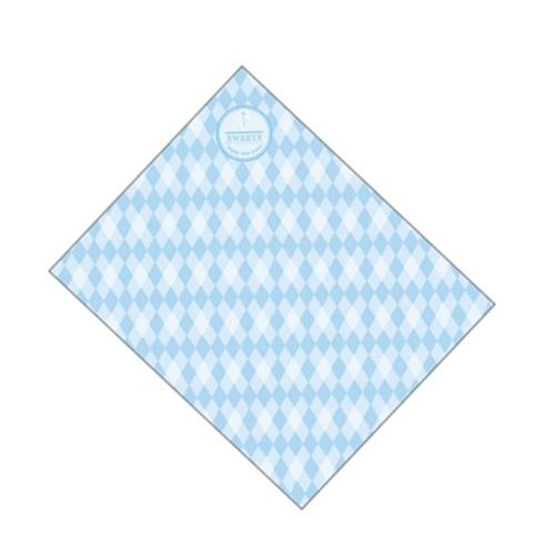 クレープ包装紙 ラミ加工Sブルー 1ケース(3,000入)