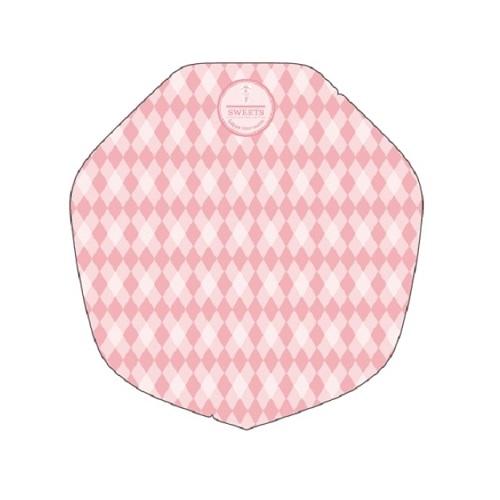 クレープ包装紙 ラミ加工変形ピンク 1ケース(3,000入)