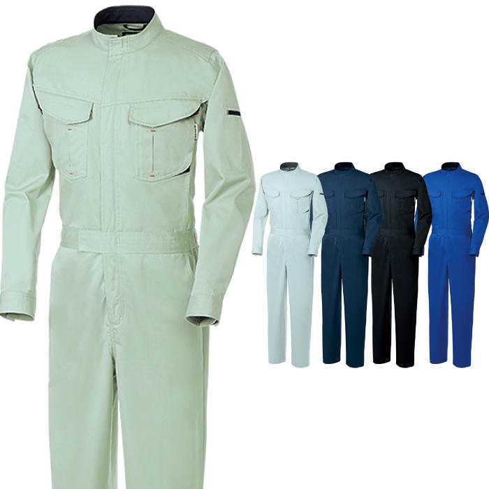 SOWA 桑和 長袖つなぎ 4200 制電続服(目付量260g/m) 年間 作業服 メンズ