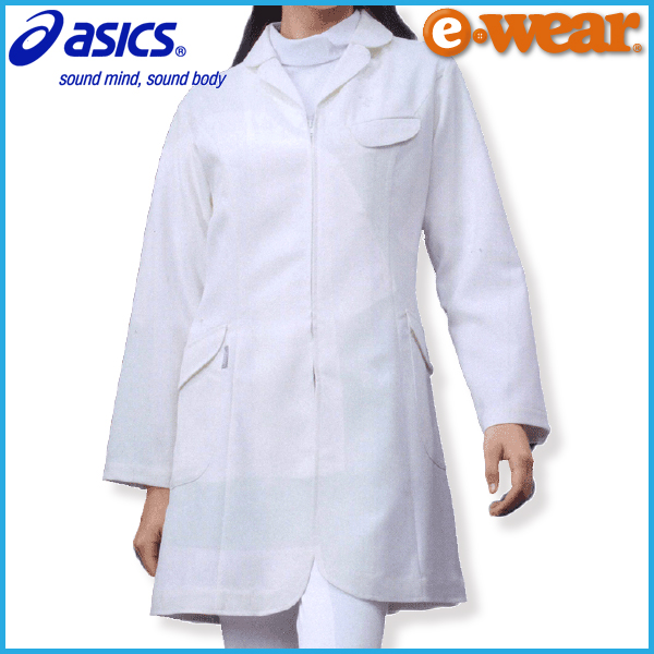 【送料無料】アシックス 女性用ドクターコート 長袖 LKM201 asics レディース 白衣 医者 医師