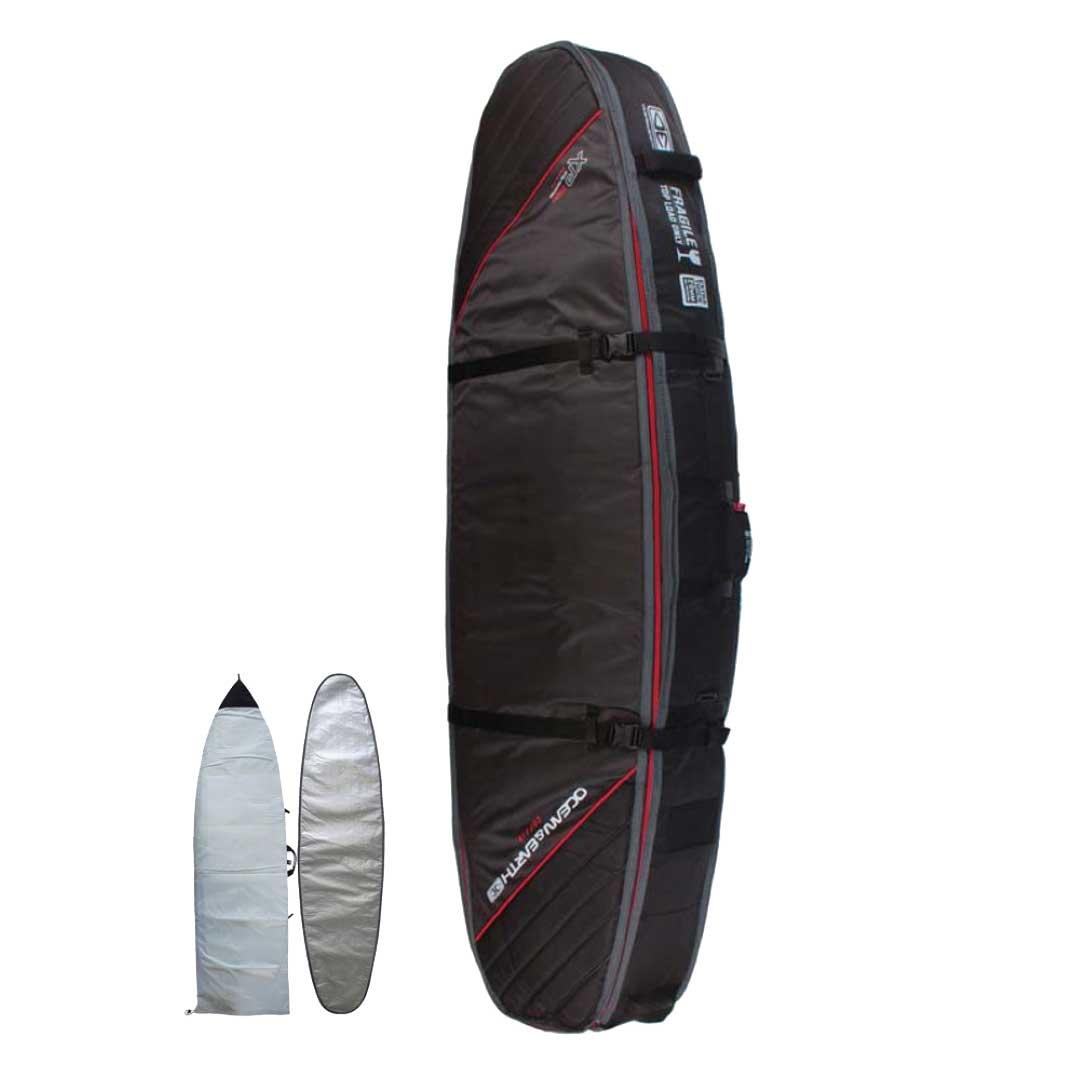 サーフボードケース サーフィン ボードケース ショートボード  オーシャンアンドアース OCEANEARTH QUAD COFFIN SHORT XP 6'6 ショートボード1~5本用ケース サーフボードケース