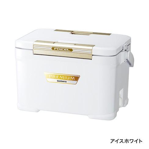 8月28日 UPシマノSHIMANO FIXCEL PREMIUM 220 ZF-022R 22L アイスホワイト クーラーボックス 保冷