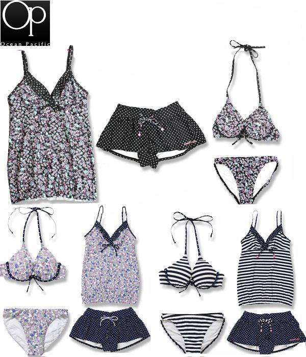 OP (op) 524-815 4 件女人泳装设置
