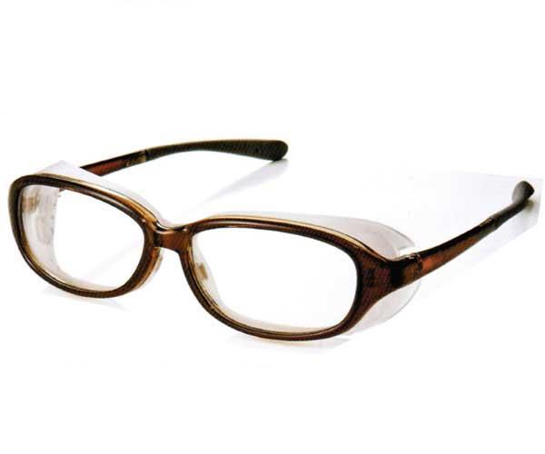 AXE EYES CURE LINE EC 606 BR pm2.5 花粉症 対策 めがね メガネ 眼鏡 ドライアイ防塵 対策 保護メガネ ウィルス対策 【 あす楽 対象 】【 あす楽便 】
