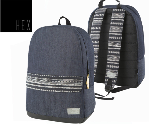 HEX(hekkusu)  STINSON ECHO BACKPACK HX1840 STRIPE/GREY DENIM