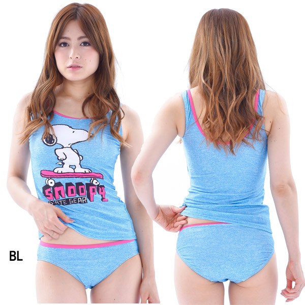 37f213e2b10f8 ... SNOOPY (peanuts) 226-301 ladies tankini bathing suit 3 piece set ...