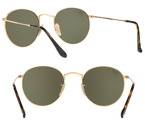 RB 3447N-50-001/30 sunglasses, RAYBAN (Ray-Ban) round flat lens