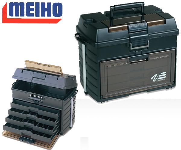 MEIHO ( メイホウ ) VS-8050 タックルボックス座ることも可能な超高強度設計 頑丈な収納バス釣り ブラックバスに最適ルアーボートフィシング階段状で見やすい