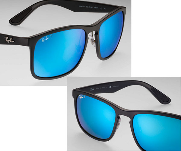 b83a67e038  a model  RB4264 CHROMANCE  A bridge of the form such as the key hole  creates a classical atmosphere. A metal logo of Ray-Ban of the temple  arouses sense of ...