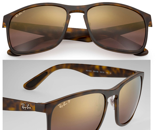 8b36442790  a model  RB4264 CHROMANCE  A bridge of the form such as the key hole  creates a classical atmosphere. A metal logo of Ray-Ban of the temple  arouses sense of ...