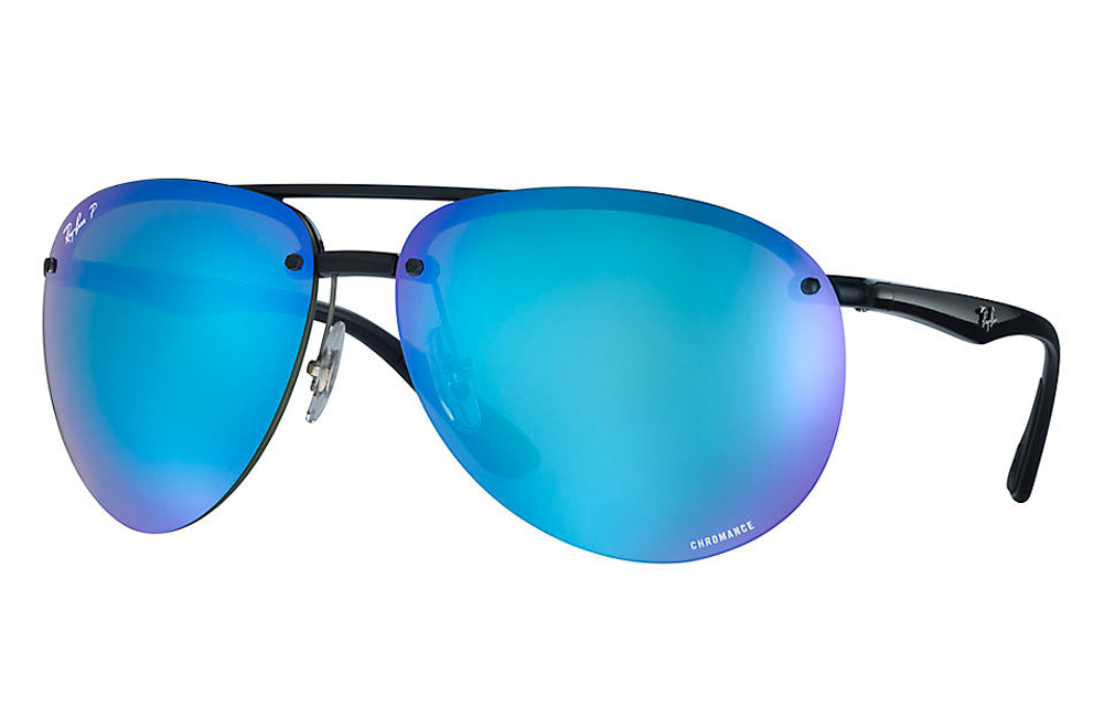 6f3f067ec43 The RB4293CH sunglasses of Ray-Ban are equipped with Chromance Lenses (chroman  lens) in the square double bridge design of the nylon material.