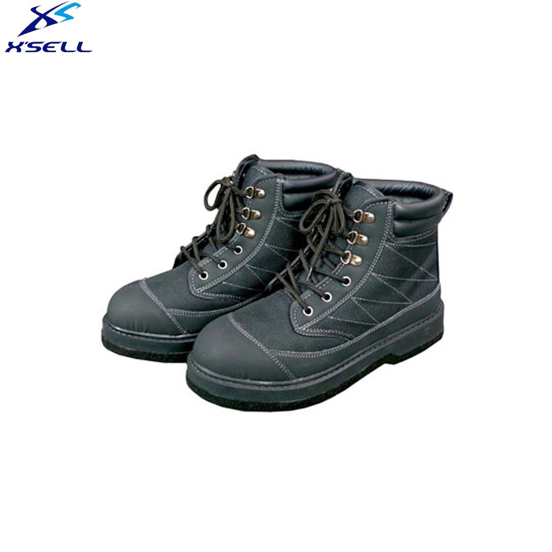 エクセル X'SELL ウェーディングシューズ OH080 フェルトピン ( スパイク ) ソール 渓流 ・ 鮎靴【 送料無料 ( 北海道 ・ 沖縄除く ) 】渓流 ウェット