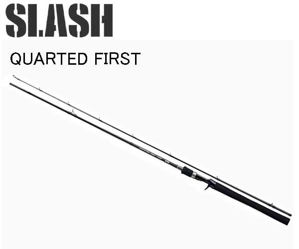 ポイント最大25倍 12/10まで年末売り尽くし サイバーマンデー スーパーセールSLASH(スラッシュ) QUARTED FIRST(クォーテッドファースト) QF-C6102MH 064942 バスベイトロッド