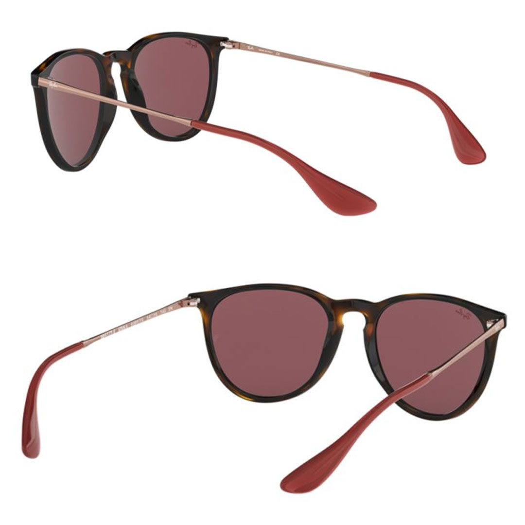 Ray-Ban (Ray-Ban) ERIKA COLOR MIX RB4171F 639175 (HAVANA DARK VIOLET) size  54,57 sunglasses