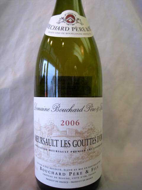 [2006] ムルソー・グット・ドール 750ml ドメーヌ・ブシャール・ペール・エ・フィス Meursault Les Gouttes d'Or / Bouchard Pere & Fils