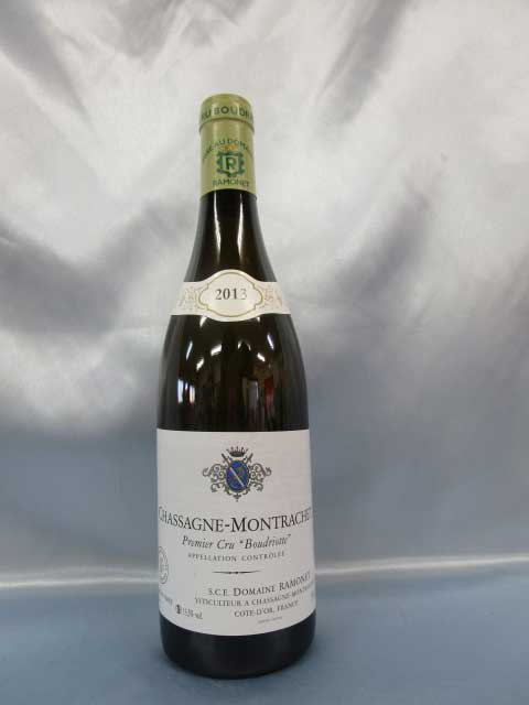 [2013] シャサーニュ・モンラッシェ・ブードリオット 白 750ml ラモネ Chassagne Montrachet  Boudriottes Blanc / Domaine Ramonet [G-4]