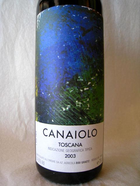 [2003] カナイオーロ 750ml ビービー・グラーツ Canaiolo / BIBI GRAETZ [Na10-5*Na10-4]