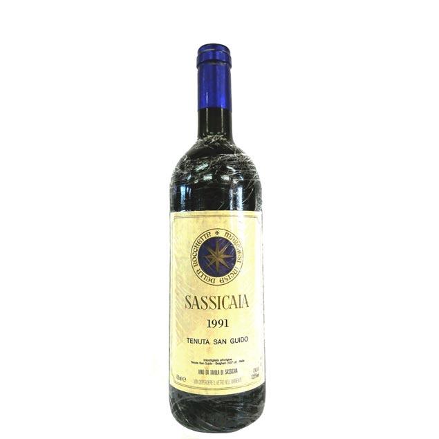[1991] サッシカイア 750ml テヌータ・サン・グイード Sassicaia Tenuta / San Guido [Q-2]