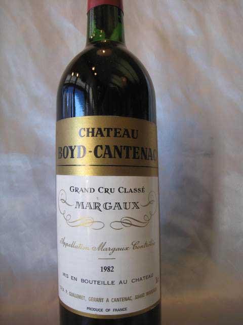 [1982] シャトー・ボイド・カントナック 750ml マルゴー Chateau Boyd Cantenac