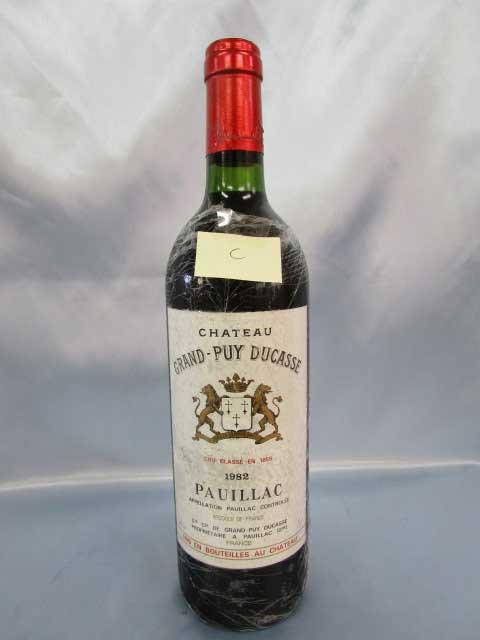 [1982]シャトー・グラン ピュイ デュカス「C」 750ml ポイヤック Grand Puy Ducasse