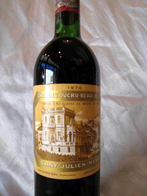 [1970] シャトー・デュクリュ・ボーカイユ 750ml サン・ジュリアン Chateau Ducru Beaucaillou [Ko-6]