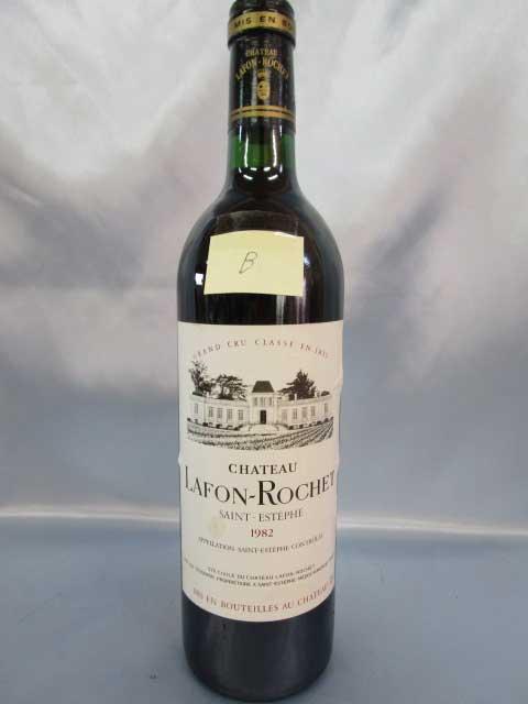 [1982] シャトー・ラフォン・ロシェ 「B」 750ml サンテステフ Chateau Lafon Rochet