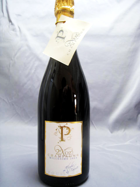 [2004] ドゥ・フォワ・オズ(2Xoz)ブリュット・プルミエ・クリュ 白 750ml・辛口 ロジェ・プイヨン・エ・フィス Cuvee 2Xoz Brut Blanc de Noirs / Roger Pouillon et Fils