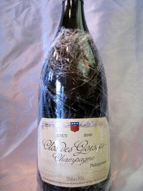 [2000] クロ・デ・ゴワセ 750ml フィリポナ Clos de Goisses / Philipponnat